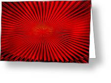 Red Glass Abstract 4 Greeting Card
