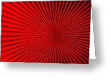 Red Glass Abstract 5 Greeting Card