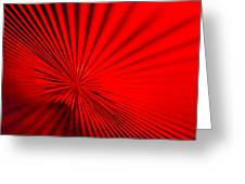 Red Glass Abstract 7 Greeting Card