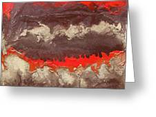 Red Gold And Brown Abstract Greeting Card
