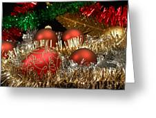 Red Gold Green Christmas Greeting Card