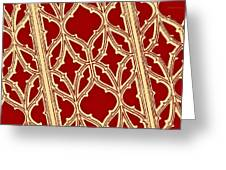 Gothic Pattern On Red Greeting Card