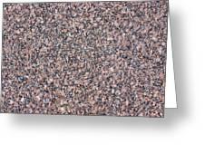Red Granite Plate Greeting Card