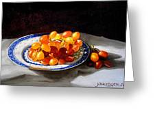 Red Grapes On Chinese Dsh Greeting Card