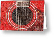 Red Guitar - Digital Painting - Music Greeting Card