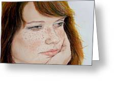 Red Hair And Freckled IIi Greeting Card