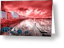 Red Harbouring  Greeting Card