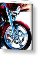 Red Harley Davidson  Greeting Card