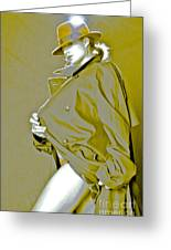 Red Hat And Trenchcoat Greeting Card