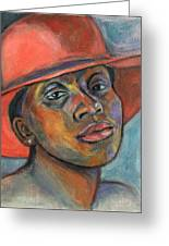 Red Hat Lady Greeting Card