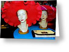 Red Hats Greeting Card