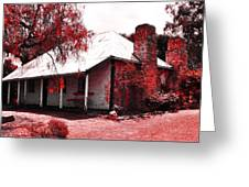 Red Homestead Garden Greeting Card