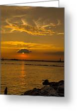 Red Hook Sunset 3 Greeting Card