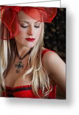 Red Hot Greeting Card by Evelina Kremsdorf