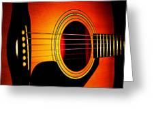 Red Hot Guitar Greeting Card