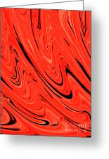 Red Hot Lava Flowing Down Greeting Card