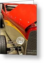 Street Car - Red Hot Rod Greeting Card