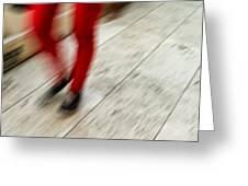 Red Hot Walking Greeting Card