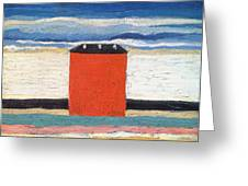 Red House, 1932 Oil On Canvas Greeting Card