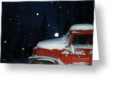 Red International Singing Those Deep Winter Blues  Greeting Card