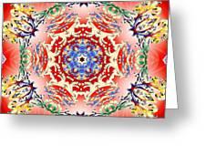Red Karma Greeting Card