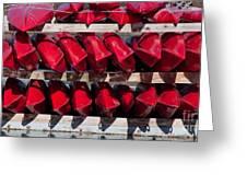 Red Kayaks Greeting Card