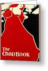 Red Lady The Chap Book1895 Greeting Card