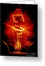 Red Light Abstract Greeting Card