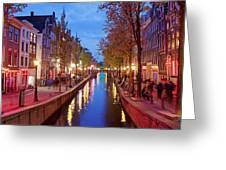 Red Light District In Amsterdam Greeting Card