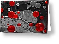Red Lights In Vegas Greeting Card by Gail Lawnicki