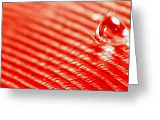 Red Lined Greeting Card