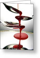 Red Liquid Fountain Greeting Card