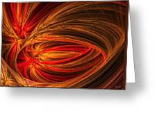 Red Luminescence-fractal Art Greeting Card