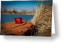 Red Lunch Bag Greeting Card