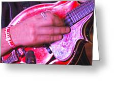 Red Mandolin Greeting Card