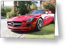 Red Mercedes Benz Greeting Card