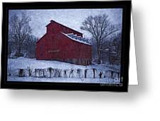 Red Mill Antique Barn Greeting Card