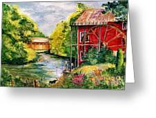 Red Mill At Waupaca Greeting Card