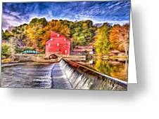 Red Mill Painted Greeting Card