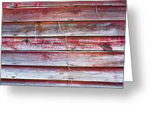 Red Mold Siding Greeting Card
