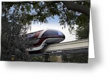 Red Monorail Disneyland 01 Greeting Card