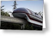 Red Monorail Disneyland 02 Greeting Card