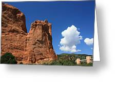 Red Mountain Garden Of The Gods  Colorado Greeting Card by Robert D  Brozek