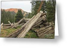 Red Mountain Ruins Greeting Card