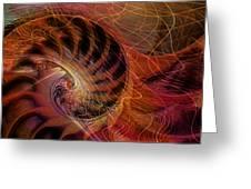 Red Nautilus Greeting Card
