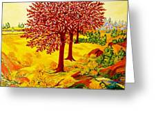 Red Oaks  Pop Art Greeting Card