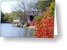 Red October On The Lake Greeting Card