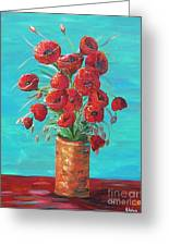 Red On My Table  Greeting Card
