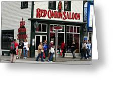 Red Onion Saloon Greeting Card