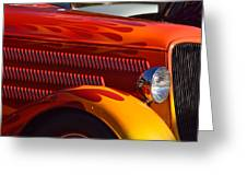 Red Orange And Yellow Hotrod Greeting Card
